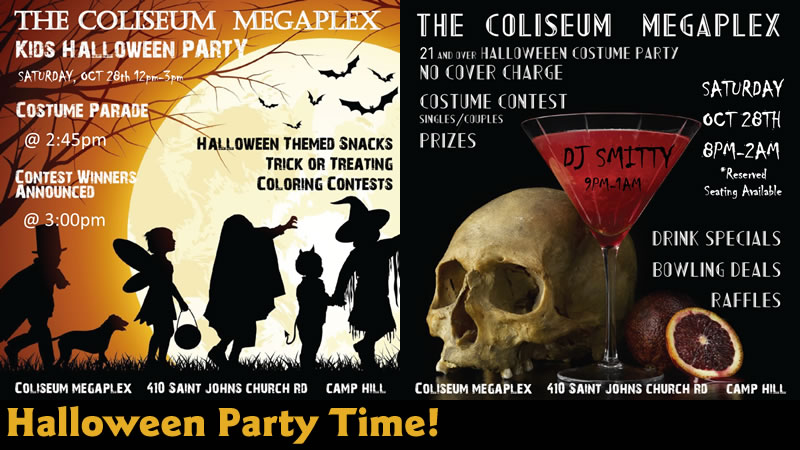 Halloween Party Time! Oct 28th